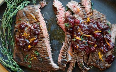 Grilled Cranberry-Orange Flank Steak