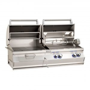 Fire Magic Aurora A830i Built-In Gas & Charcoal Combo Grill With Analog Thermometers - A830i-CB