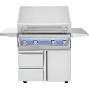 Twin Eagles Eagle One 36-inch 3 Burner Gas Grill on Cart with Sear Zone and Infrared Rotisserie Burner - TE1BQ36RS-(L/N) + TEGB36-B / TEGB36SD-B