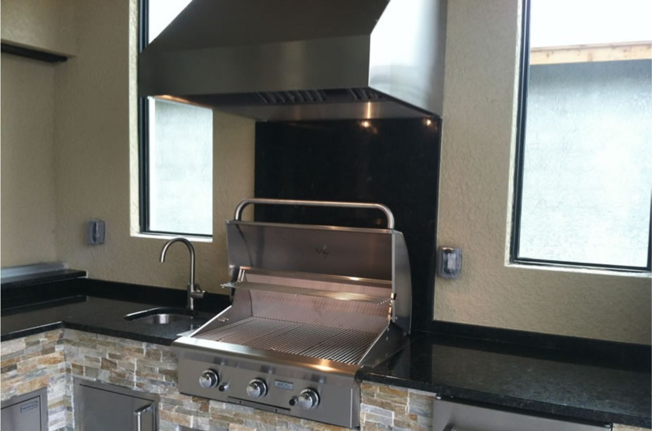 outdoor kitchen vent hood
