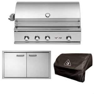 Delta Heat Simple 3-Piece 38in. Outdoor Kitchen Package