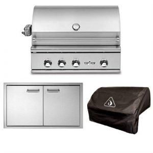 Delta Heat Simple 3-Piece 32in. Outdoor Kitchen Package