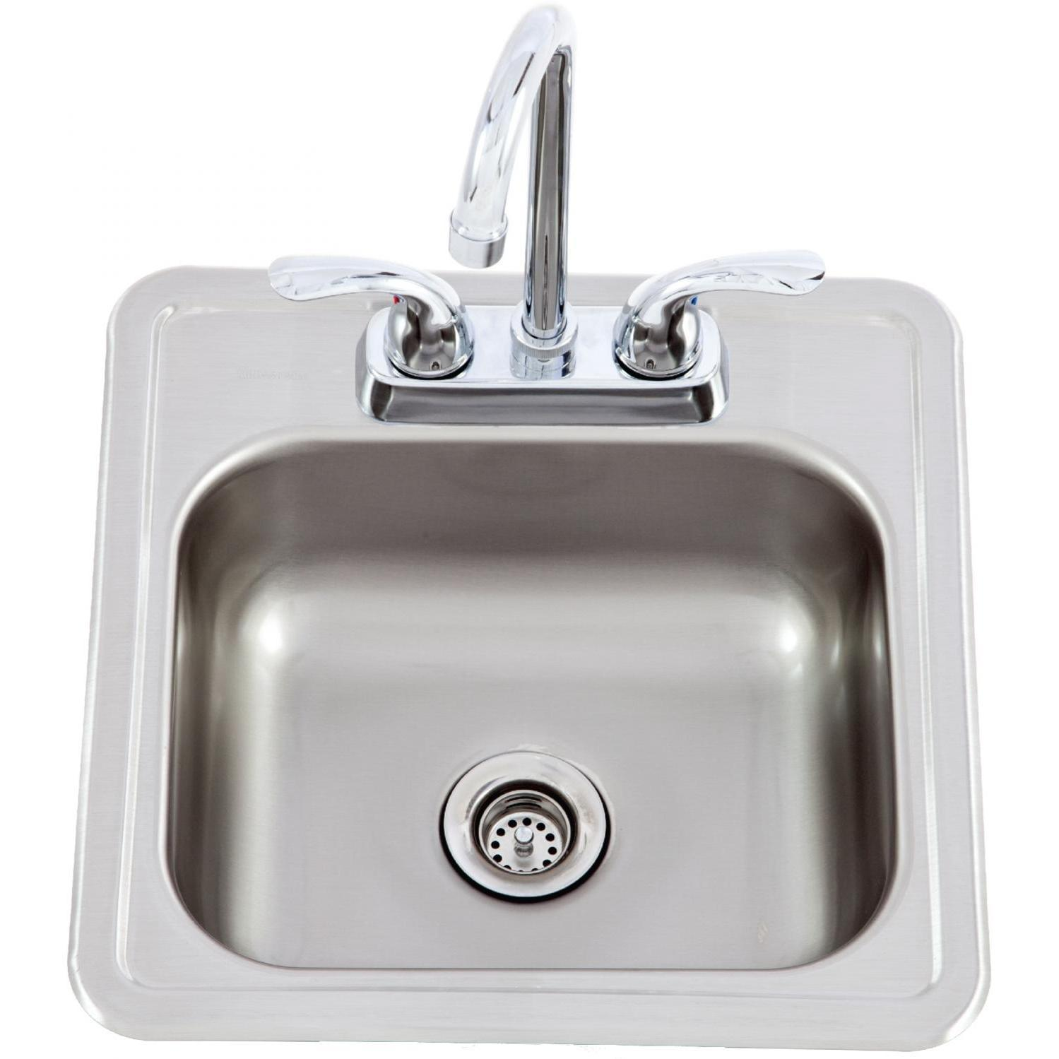 Lion 15 X 15 Outdoor Rated Stainless Steel Sink With Hot Cold Faucet 54167 The Outdoor Appliance Store