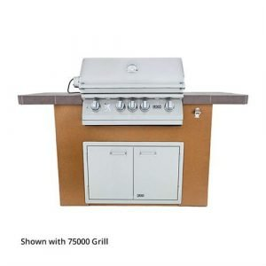 Lion Prominent Q BBQ Grill Island in Rock or Brick - 90104
