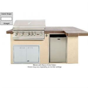 Lion Premium Outdoor Grill Islands Quality Q with Stucco Finish - 90113