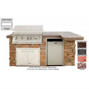 Lion Premium Outdoor Grill Islands Quality Q with Rock and Brick Finish - 90114
