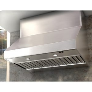 """Zephyr Power Cypress 48"""" Outdoor Wall Mount Range Hood with 1200 CFM Blower - Stainless Steel"""