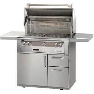 Alfresco ALXE 36-Inch Gas Grill On Deluxe Cart With Rotisserie - ALXE-36CD