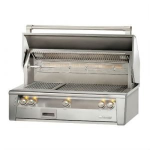 Alfresco ALXE 42-Inch Built-In Gas Grill With Sear Zone And Rotisserie - ALXE-42SZ