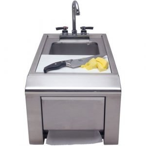 "Alfresco - 14"" Outdoor Rated Prep And Wash Sink With Towel Dispenser - ASK-T"