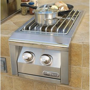 "Alfresco - 14"" Built-In Double Side Burner - AXESB-2-LP"