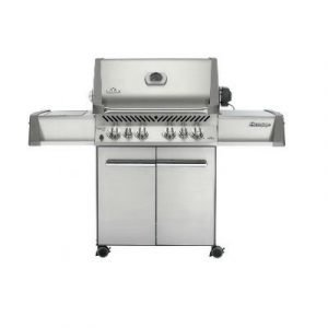 Napoleon Prestige 500 Stainless Steel Freestanding Gas Grill with Rear Infrared Burner and Infrared Side Burner