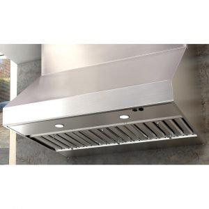 """Zephyr Power Cypress 42"""" Outdoor Wall Mount Range Hood with 1200 CFM Blower - Stainless Steel"""