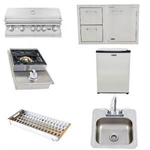 Lion BBQ Standard Outdoor Kitchen Package - Natural Gas/Liquid Propane